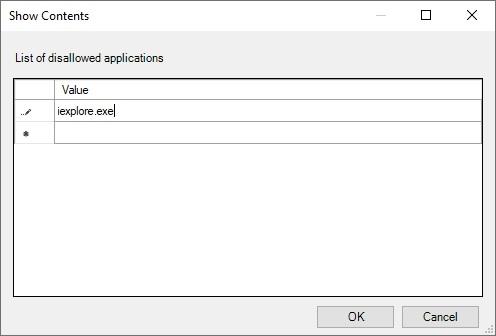 disable internet explorer