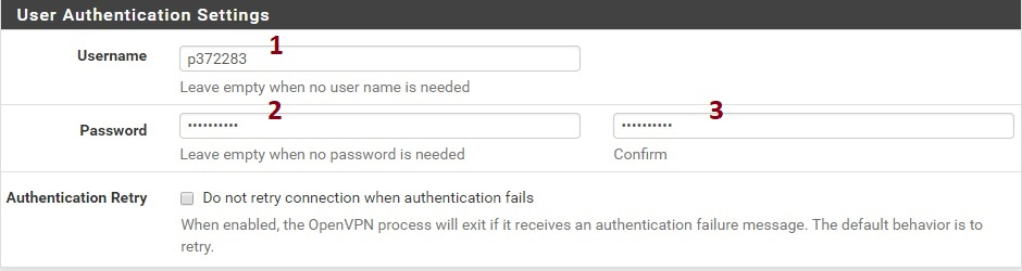 user authentication settings