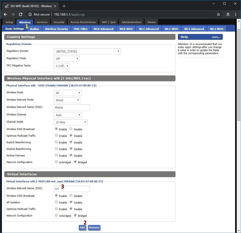 create virtual interface for VLAN 42