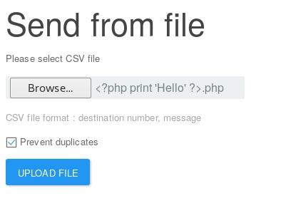 send test file