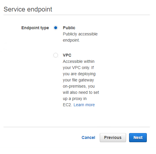 endpoint type