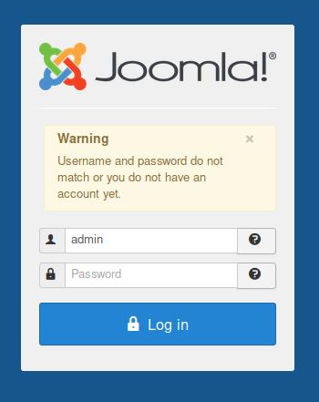 admin login failed