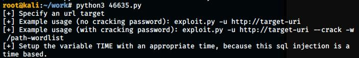 exploit test run