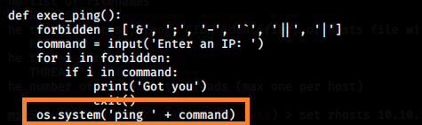 command injection