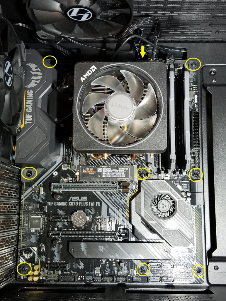 mobo attached
