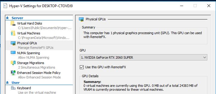 physical GPU