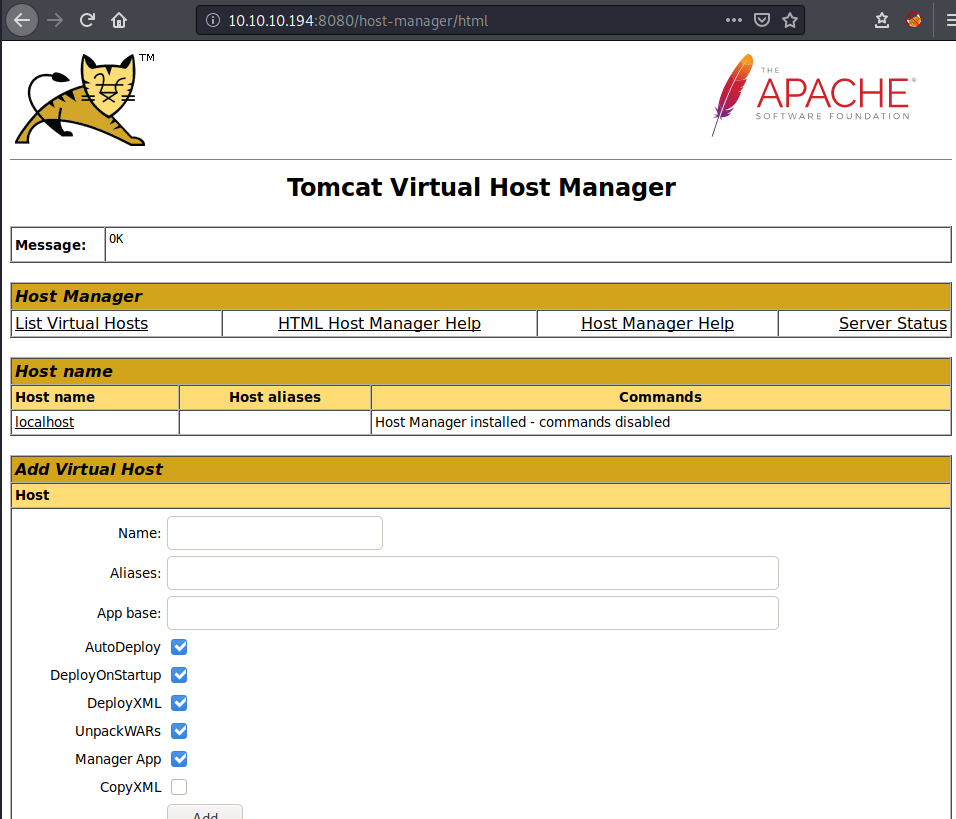 host manager